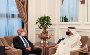 وزير خارجية قطر يؤكد للرجوب دعم المصالحة الفلسطينية