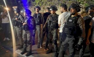 قوات الاحتلال تقمع المعتصمين في الشيخ جرّاح