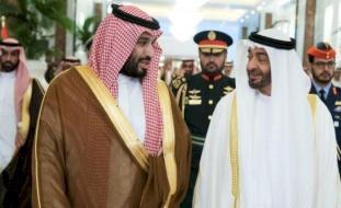 مشهد تحت أقدام محمد بن زايد ومحمد بن سلمان يشعل مواقع التواصل (صور)
