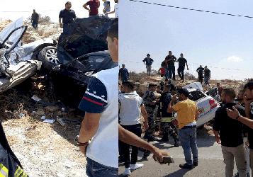 حادث سير مروع قرب الجامعة الامريكية بجنين