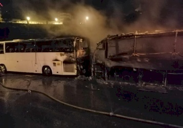 بيان للشرطة بخصوص احتراق حافلة أمام فندق ببيت لحم
