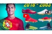 فيديو/ جميع الأحذية التي لعب بها النجم رونالدو