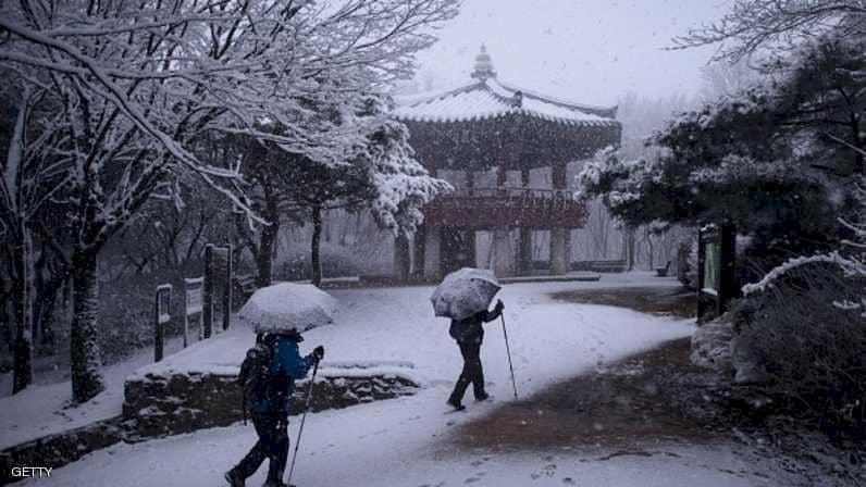 البرد يجمد كوريا الجنوبية