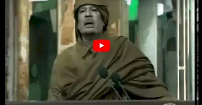 فيديو تاريخي لمشادات كلامية بين القذافي ومبارك