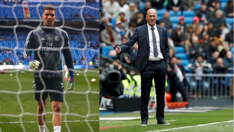 زيدان يحضر ابنه لمشروع الحارس النجم في ريال مدريد