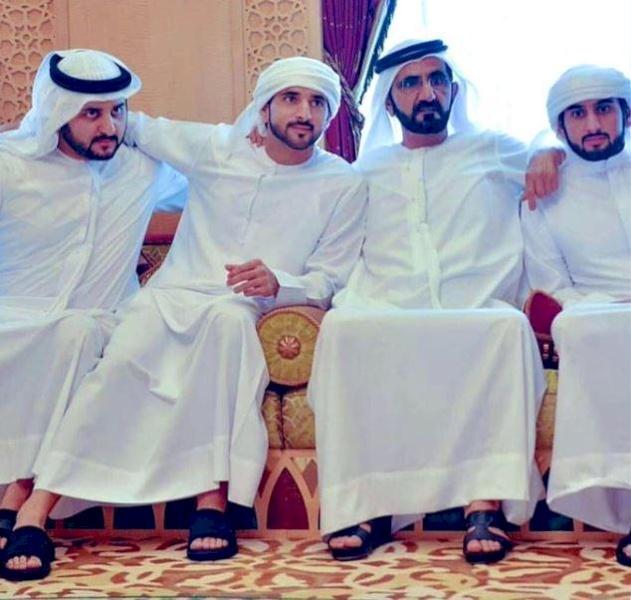 زواج 3 من أبناء حاكم دبي وصورة تشعل مواقع التواصل