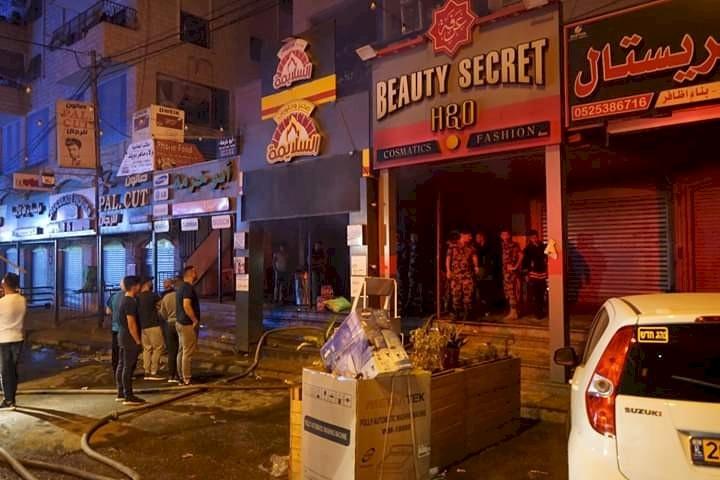 9 اصابات نتيجة حريق في بلدة قلنديا