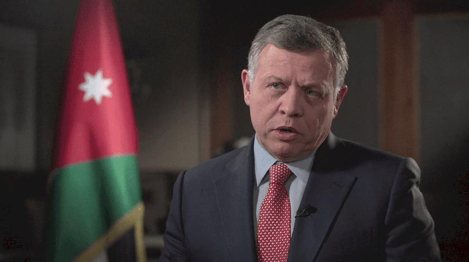 عاهل الأردن يبحث مع وفد أمريكي إعادة المفاوضات بين إسرائيل وفلسطين