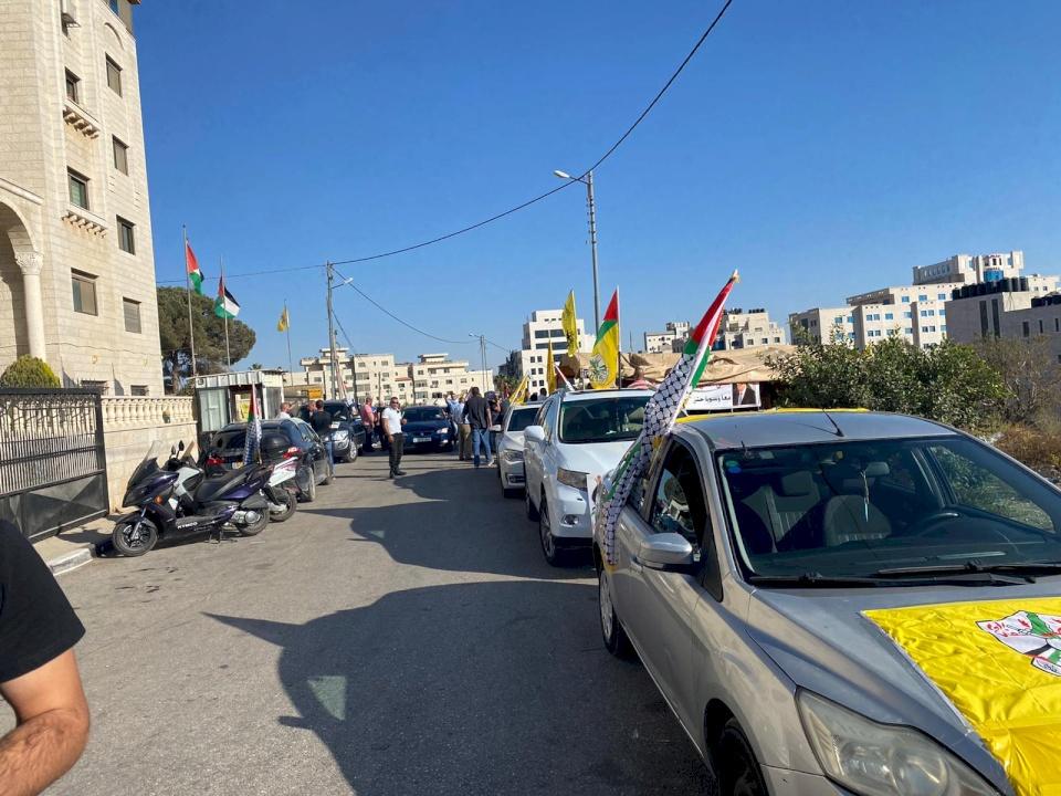 صور: فتحاويون يحتجون منذ أسبوع على تعيين أعضاء إقليم القدس