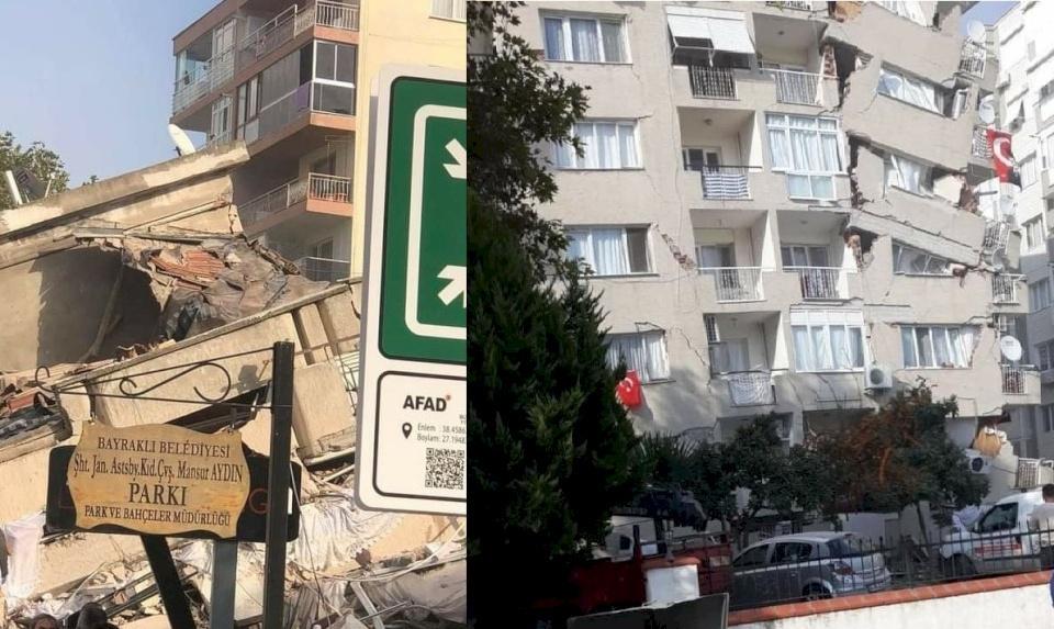 """محدث 2.. """"تسونامي جزئي"""" جراء زلزال بحر إيجة  (صور وفيديو)"""