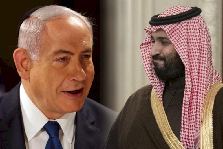 """نتنياهو يرفض التعليق على """"زيارته"""" للسعودية وغانتس غاضب"""