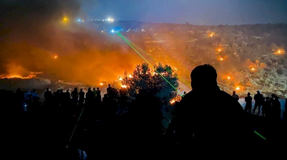 """إصابات واعتقالات خلال مواجهات """"ليلية"""" في بيتا جنوب نابلس"""