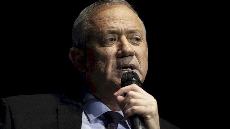 غانتس: لا توجد لحكومتنا رغبة في المحادثات مع الفلسطينيين