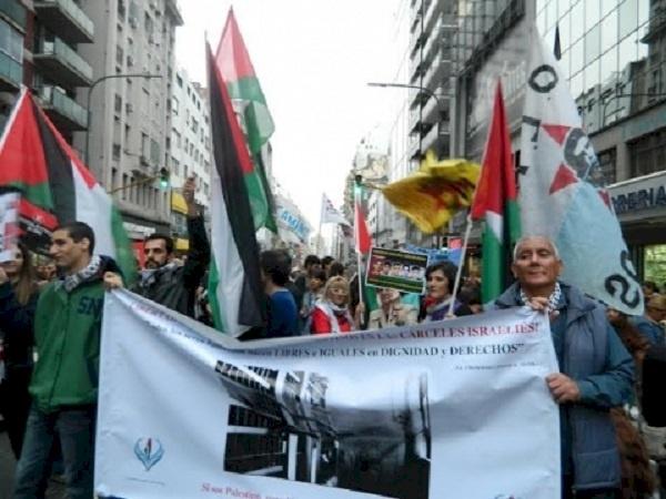 الأرجنتين..مسيرة داعمة للأسرى الفلسطينيين ومناهضة لإسرائيل